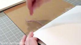 ساخت دفتر اسکرپ بوک دستساز  رنگی رنگی