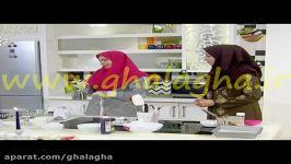 ویدئو آموزش دسر توت فرنگیموس کیک توت فرنگی بادام