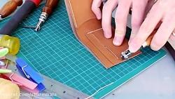 آموزش چرم دوزی ساخت کیف پول چرم چرمی کالا