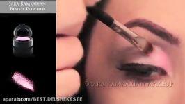آموزش آرایش چشم صورتیمدل آرایش چشم صورتی عروس آرایش