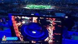 پایان مراسم رژه  کشورها رژه کاروان برزیل