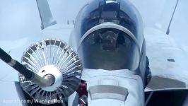 سوختگیری جت F 18 Hornet Super Hornet توسط هواپیمای Kc
