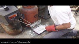 ساخت فولاد دمشقی استفاده تیغه های اسقاطی