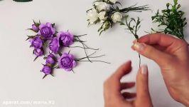 آموزش تاج گل باگلهای کاغذی