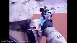 شلیك نظامی آمریكایی تك تیر انداز دراگانو اسقاطی دربوداغون
