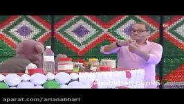 دوشیدن شیر مرغ توسط جناب خان  ته ته خنده