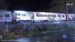 خروج قطار مسافربری ریل در آمریکا