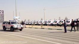 بدرقه آمبولانس های اورژانس برای اعزام به مراسم اربعین