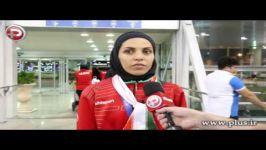 اشک های کاپیتان تیم ملی زنان ایران در شب استقبال