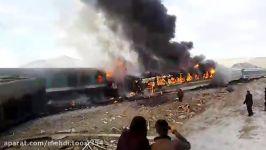 اولین فیلم برخورد قطار در ایستگاه هفت خوان دامغان