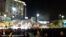تجمع علامتهای هیئتهای مذهبی در مراسم شب شهادت امام رضاع