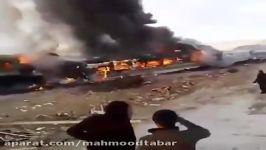 برخورد قطار مسافربری بین سمنان دامغان