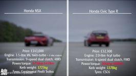 مسابقه هوندا سیویک تایپ R هوندا NSX