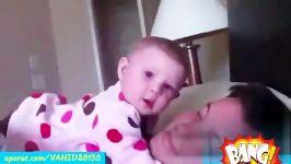 بچه نینی خوشگل فوق العاده بانمککلیپ خنده دار جالب