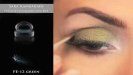 فیلم آموزش آرایش چشمآرایش چشم سبز سایه چشم آرایش چشم دودی