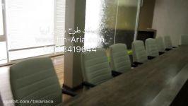 آبنمای شیشه ای دفتر اداری آبنما شیشه ای آبشار شیشه ای
