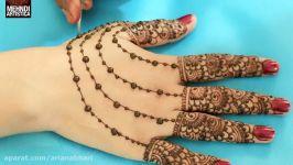 درس آرایش عروس  میکاپ عروس  طرح حنا روی دست