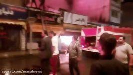 آتش سوزی در خیابان روشن ماسال  13 خرداد96 ماسال نیوز