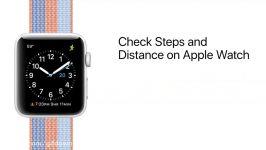 محاسبه مسافت طی شده گام شمار در ساعت های اپل