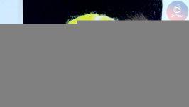 نقاشی مداد رنگی توپ تنیس بخشی دوره مداد رنگی ۱
