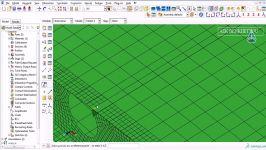 Numerical simulation of wing using ABAQUS Part5methode of merging mesh
