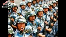 فیلم تصاویری آموزش های عجیب رژه در ارتش چین