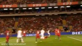 خلاصه بازی پرتغال 5 1 جزایرفاروهتریک رونالدو