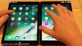 iPad Air Speed Test iOS 10.3.3 vs iOS 11 Beta 7 Public Beta 6 Build 15A5362a