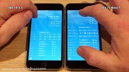 iPhone 6S Speed Test iOS 10.3.3 vs iOS 11 Beta 7 Public Beta 6 Build 15A5362a