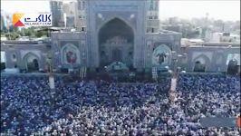 تصاویر هوایی مراسم دعای عرفه در حرم منور رضوی