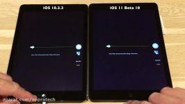 iPad Air Speed Test iOS 10.3.3 vs iOS 11 Beta 10 Public Beta 9 Build 15A5372a