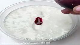 تبدیل اسلایم پفکی سفید به اسلایم پفکی قرمز