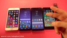 iPhone 8 Plus vs Note 8 vs S8 Plus vs 7 Plus  Battery Drain Test
