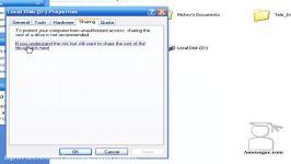 تدریس ویندوز اکس پی Windows XP درس 24 اشتراک گذاشتن فایلها پوشه ها Sharing