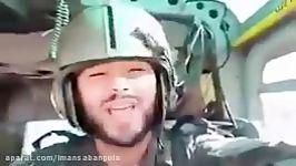پیام خلبان هلیکوپتر ارتش به مردم برای مردم زلزله زده دعا کنید. برای همه ما دعا