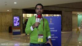 قرعه کشی جام جهانی 2018  مربیان تیم های ملی در هتل کران پلازا