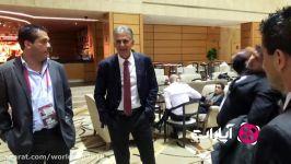 قرعه کشی جام جهانی 2018  کیروش بعد قرعه کشی در لابی هتل