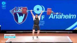 وزنه های طلایی رقابت های وزنه برداری آمریکا