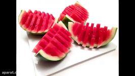روش جالب قارچ کردن هندوانه ترفند هندوانه برا یلدا مبارک