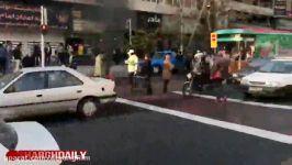 آتش زدن موتور توسط مرد جوان در اعتراض به توقیف موتور