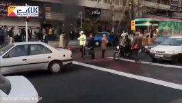 آتش زدن موتور سیکلت به دلیل توقیف توسط پلیس