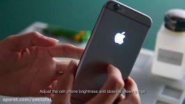 تبدیل لوگوی اپل روی قاب آیفون به لوگوی درخشان