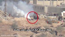 انهدام زره پوش تروریست ها موشک ضد زره در حرستا دمشق