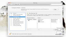 تدریس مک Mac درس 40 اشتراک گذاری داده ها File sharing