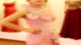 طراحی دوخت لباس شب مجلسی در مزون آنیسا