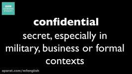 آموزش زبان انگلیسی تلفظ How to pronounce confidential
