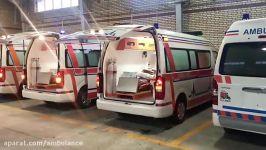 تحویل ۱۰ دستگاه آمبولانس هایس به ناوگان آمبولانس کشور