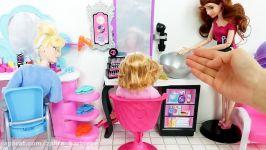 Barbie Doll Hair Salon  Cinderella Barbie Hair Cut Hair Washباربی صالون الشعرBarbie Salão de Beleza