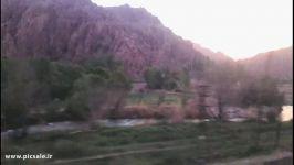 مسیر زیبای قطار مشهد به ساری