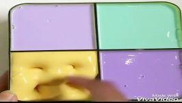 پک اسلایم خیلی جالب چهار رنگ بنفش کم رنگ بنفش پر رنگ سبز زرد کپی حرام است
